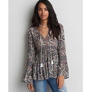 American Eagle Outfitters Pattered Blouse